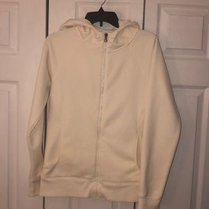 Under Armour Ivory Full Zip Storm Hoodie sz M
